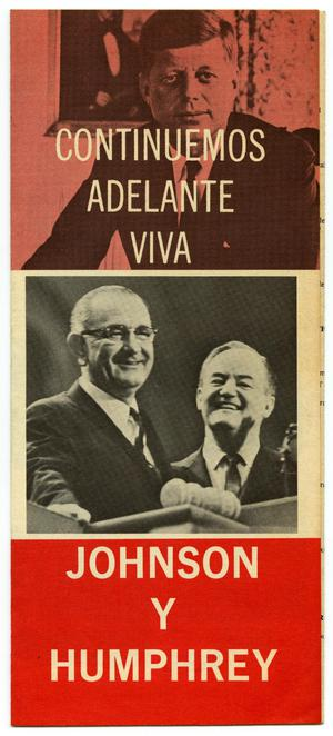 Primary view of object titled 'Continuemos Adelante Viva Johnson y Humphrey'.