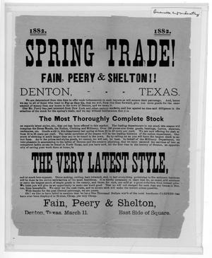 Primary view of object titled 'Spring Trade! Fain, Peery, and Shelton!!'.