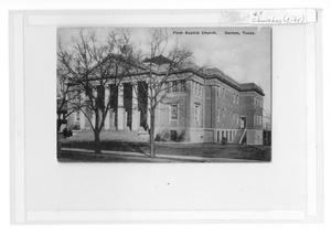 Primary view of object titled 'First Baptist Church. Denton, Texas'.