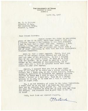 [Letter from Carlos E. Castañeda to John J. Herrera - 1947-03-25]