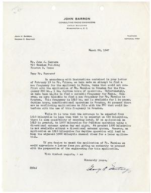 [Letter from George E. Gautney to John J. Herrera - 1947-03-28]