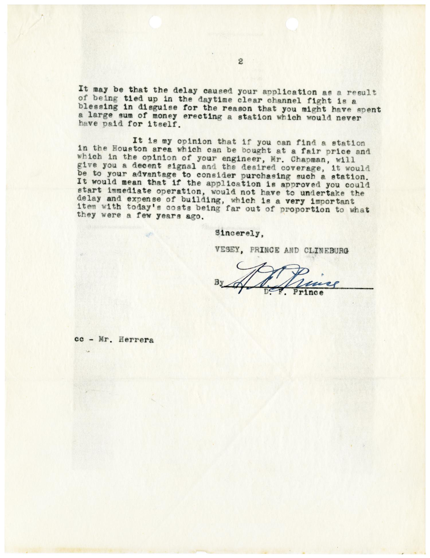 [Letter from D. F. Prince to Felix H. Morales - 1948-08-04]                                                                                                      [Sequence #]: 3 of 4