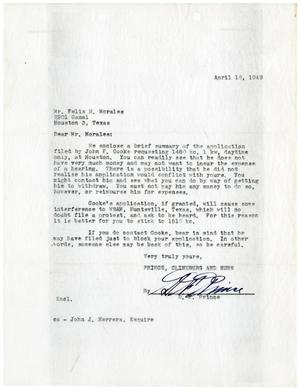 [Letter from D. F. Prince to Felix H. Morales - 1949-04-18]