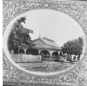 Primary view of object titled '[The Gibson Well- - Souvenir Photograph]'.