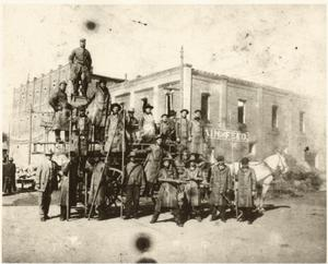 Primary view of object titled '[Mineral Wells Firemen , about 1907]'.