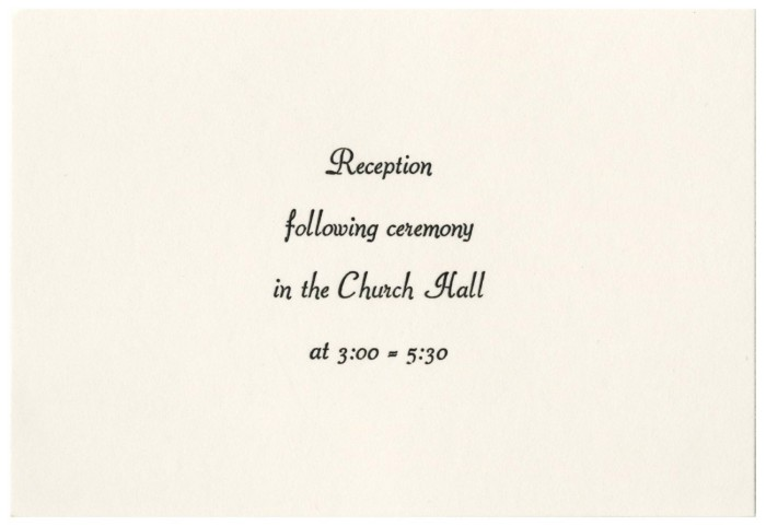 wedding reception announcement for mary lovar and samuel gonzalez