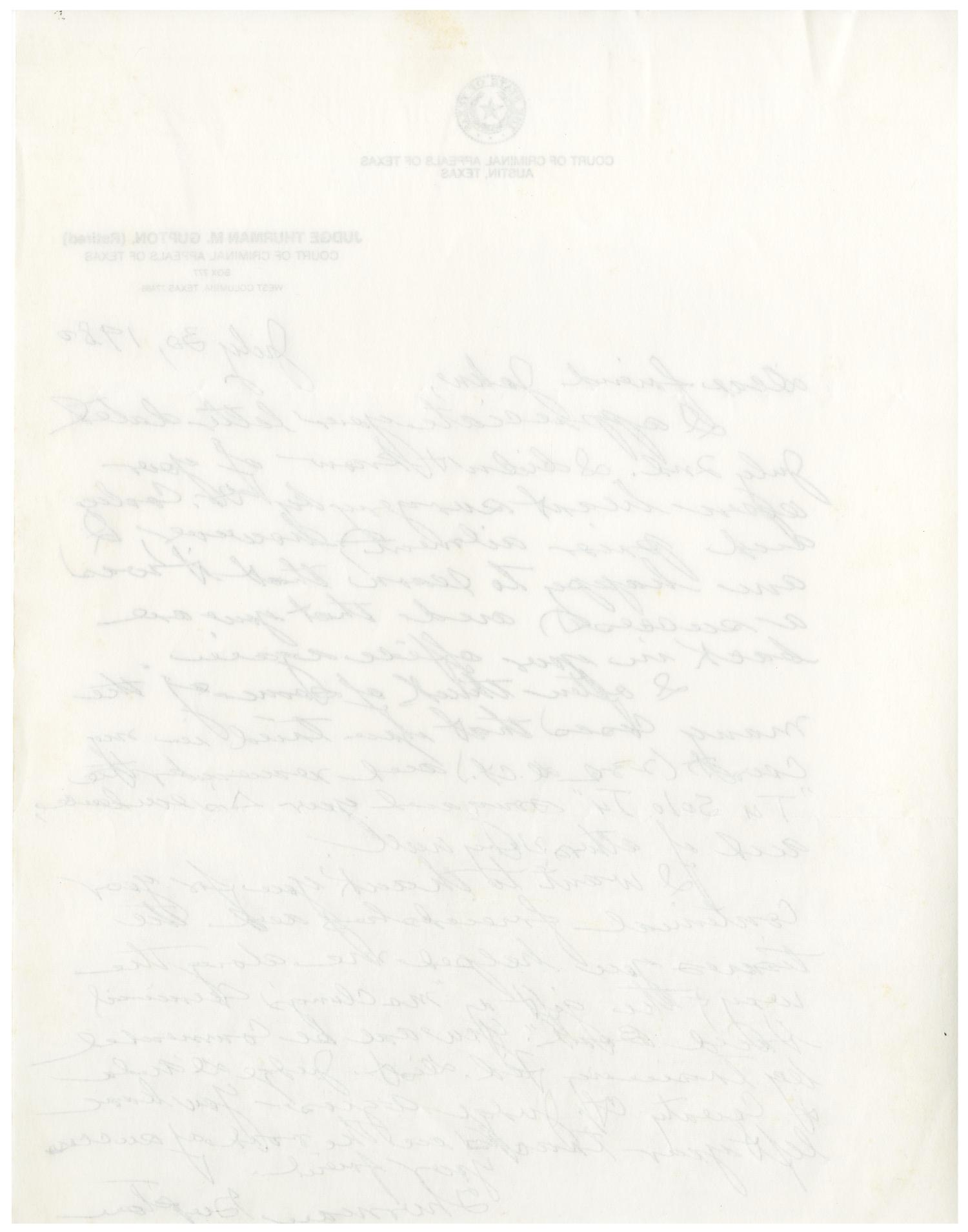 [Letter from Thurman Gupton to John J. Herrera - 1980-07-30]                                                                                                      [Sequence #]: 2 of 4