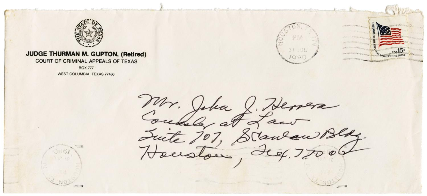 [Letter from Thurman Gupton to John J. Herrera - 1980-07-30]                                                                                                      [Sequence #]: 3 of 4