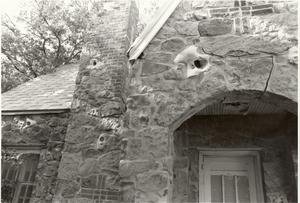 Primary view of object titled '[ A Close-up of Calvary Baptist Parsonage]'.