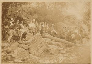 Primary view of object titled '[The Donkey Trail up East Mountain - 1901]'.