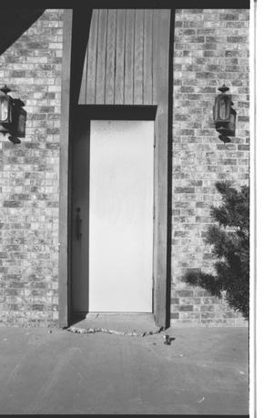 Primary view of object titled '[St. Mark's Lutheran Church - 5 of 18:   Door Leading to Steeple]'.