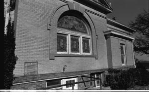 Primary view of object titled '[The East Side of the (Third) First Presbyterian Church Building]'.