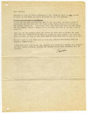 Primary view of object titled '[Letter from Ramon Sandoval to John J. Herrera - 1950-10-19]'.