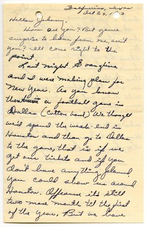 Primary view of object titled '[Letter from Thelma Vela to John J. Herrera - 1950-10-24]'.