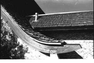Primary view of object titled '[St. Mark's Lutheran Church -- 7 of 18:   Close Up of Roof Structure]'.