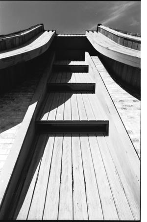 [St. Mark's Lutheran Church -- 17 of 18:   Architechtural View Looking Up at Steeple]