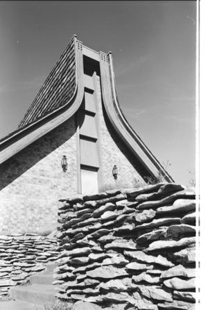 Primary view of object titled '[St. Mark's Lutheran Church -- 15 of 18:   Close Up of Rockwork]'.