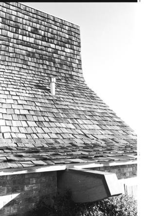 [St. Mark's Lutheran Church - 14 of 18:   Side View of Wood Shingles]