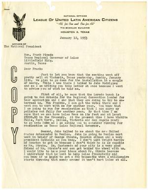 [Letter from John J. Herrera to Frank M. Pinedo - 1953-01-12]