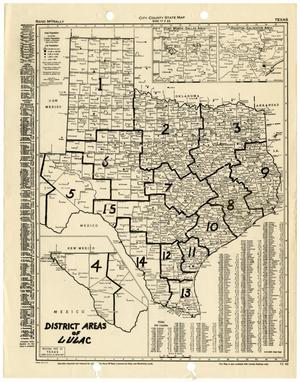 Map Of Texas Districts.Map Of Texas Counties Outlining Lulac Districts The Portal To