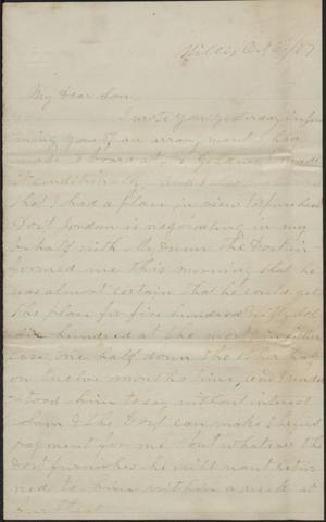 Primary view of object titled 'Letter to Cromwell Anson Jones, 6 October 1877'.