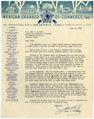 [Letter from Jacob I. Rodriguez to John J. Herrera - 1953-06-15]