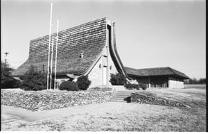 Primary view of object titled '[St. Mark's Lutheran Church - 1 of 18:  Three Crosses Visible]'.