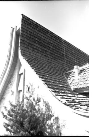 Primary view of object titled '[St. Mark's Lutheran Church -- 10 of 18:   Sun Shining on Roof]'.