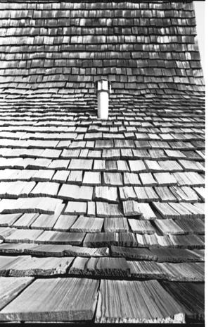 [St. Mark's Lutheran Church -- 12 of 18:   Close Up of Wood Shingles]