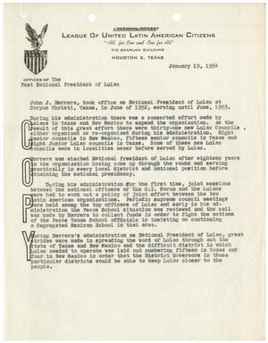 Primary view of object titled '[Attachment to letter from John J. Herrera to J.C. Machuca - 1954-01-19]'.