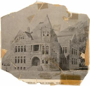 Mineral Wells School Texas  (Architectural Drawing?)