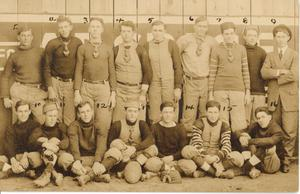 Primary view of object titled '[A Post Card of a Football Team]'.