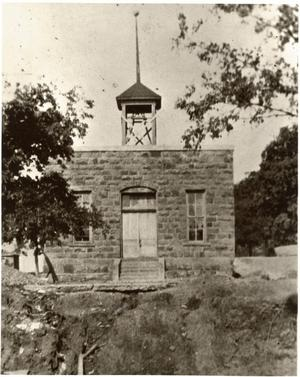 Primary view of object titled '[Mineral Wells' First Public School Erected in 1884]'.