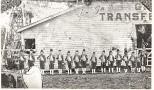Primary view of object titled '[The First Boy Scouts in Mineral Wells, 1902]'.