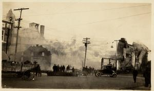 Primary view of object titled '[The Burning of the Crazy Flats]'.