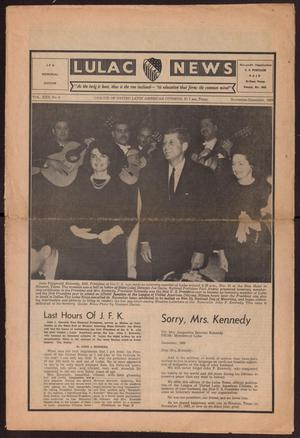 Primary view of object titled 'LULAC News, Volume 25, Number 4, November-December 1963'.