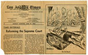 Primary view of object titled '[Los Angeles Times Political Cartoon - 1964-06-29]'.