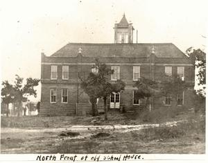 Primary view of object titled 'North Front of Old School House'.