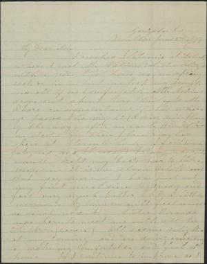 Primary view of object titled 'Letter to Cromwell Anson Jones, 2 June 1877'.