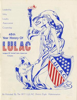 Primary view of object titled '48th Year History of LULAC'.