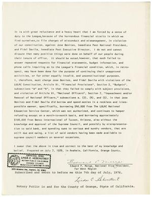 Primary view of object titled '[Deposition of Eduardo Morga - 1976-07-07]'.