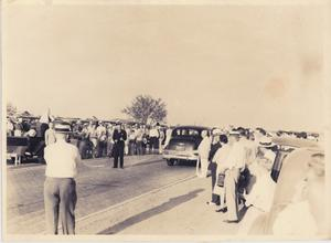 Primary view of object titled '[The Opening of the New Brick Highway - 1936]'.