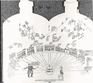 Primary view of object titled '[A Bottle-Shaped Map of Attractions]'.