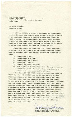 Primary view of object titled '[Deposition by John J. Herrera - 1977-06-07]'.