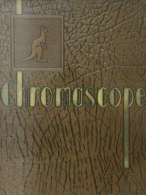 Primary view of object titled 'The Chromascope, Volume 35, 1935'.
