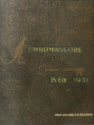 Primary view of object titled 'The Chromascope and Key, Volume 31, 1931'.