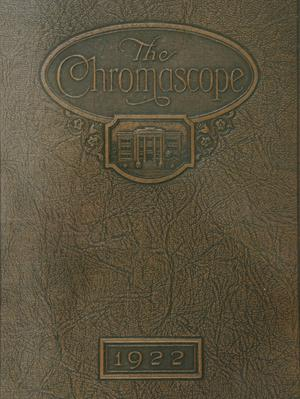 Primary view of object titled 'The Chromascope, Volume 22, 1922'.