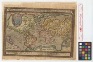 Primary view of Typus orbis terrarum, ad imitationem universalis Gerhardi Mercatoris : cuius secundum tam veterum quàm recentiorum supputationem 5400 miliaria Germanica ambitus complectitur..