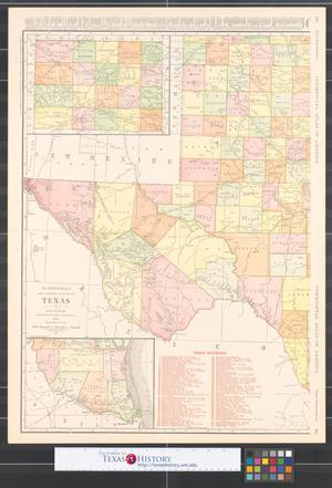 Primary view of object titled 'The Rand McNally new commercial atlas map of Texas [Sheet 1].'.