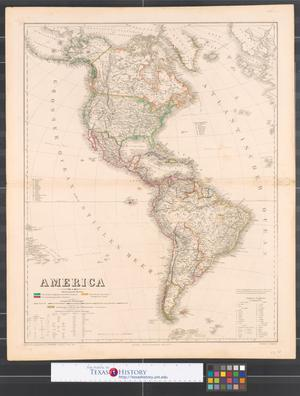 Primary view of object titled 'America : Americanische Staaten.'.